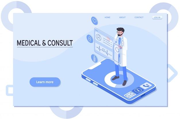 Slimme technologie in de gezondheidszorg Premium Vector