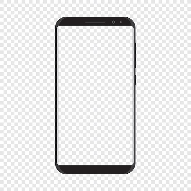 Slimme telefoon met transparante achtergrond Premium Vector