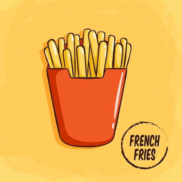 Smakelijke frieten clip-art Premium Vector