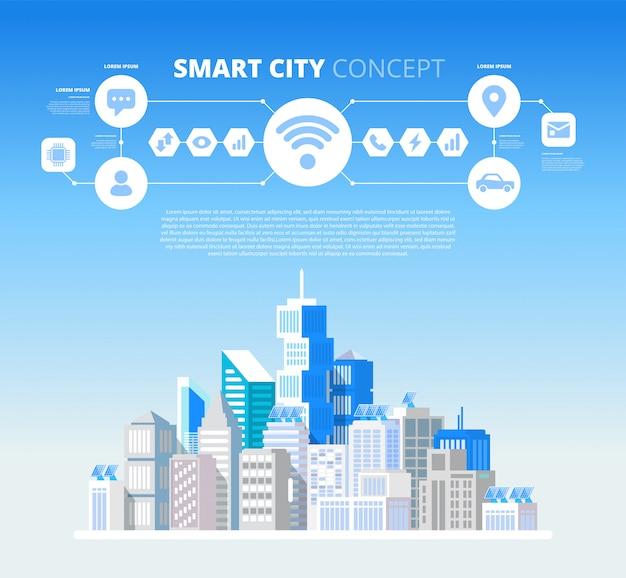 Smart city concept. Premium Vector