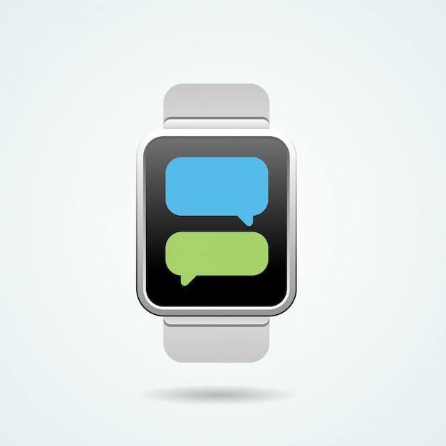 Smart watch-illustratie Premium Vector