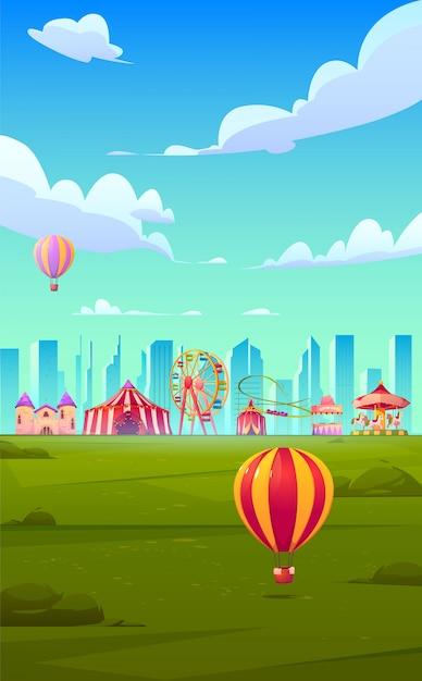 Smartphone-achtergrondthema met carnaval-kermis Gratis Vector