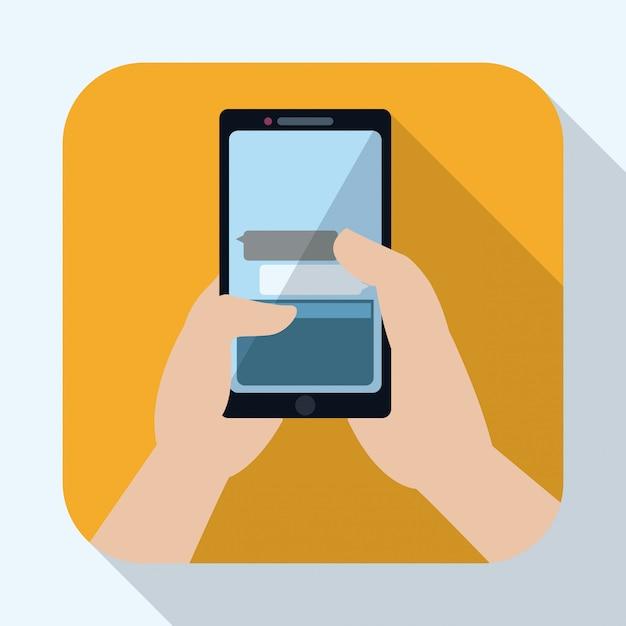 Smartphone ontwerp Premium Vector