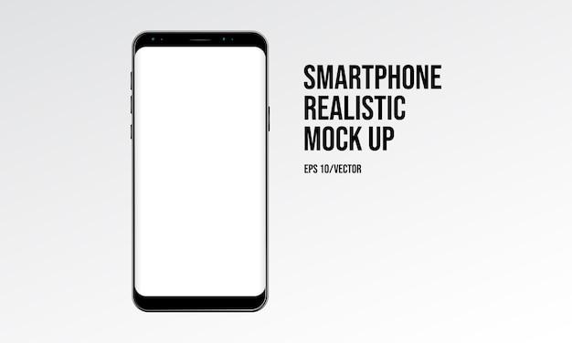 Smartphone realistische mock-up Premium Vector