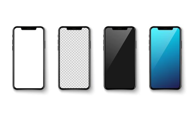 Smartphone-toepassingsscherm op witte baclground Premium Vector