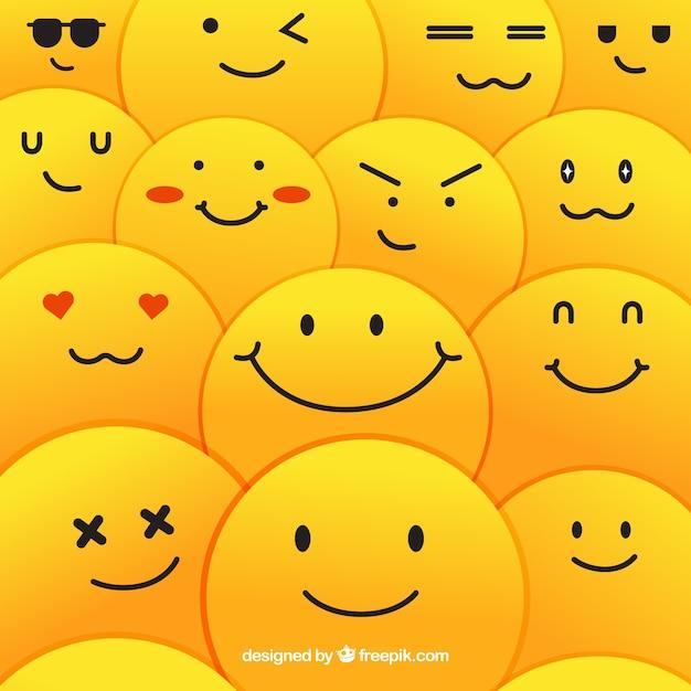 Smiley patroon achtergrond Gratis Vector