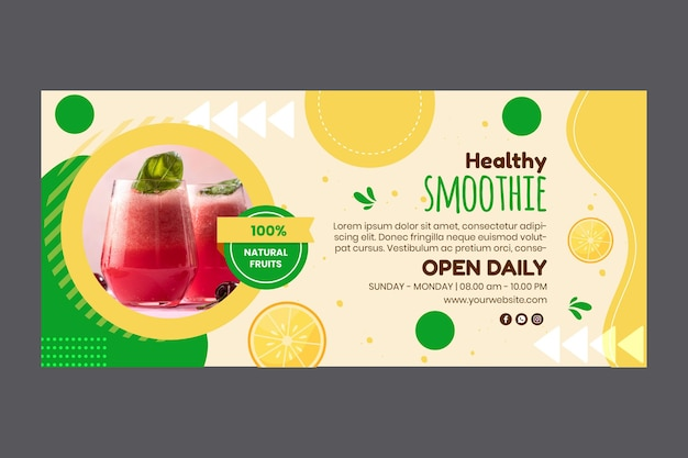 Smoothies bar sjabloon voor spandoek Gratis Vector