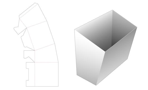 Snackpapiercontainer gestanst sjabloon Premium Vector