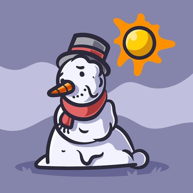 Sneeuwpop illustratie Premium Vector
