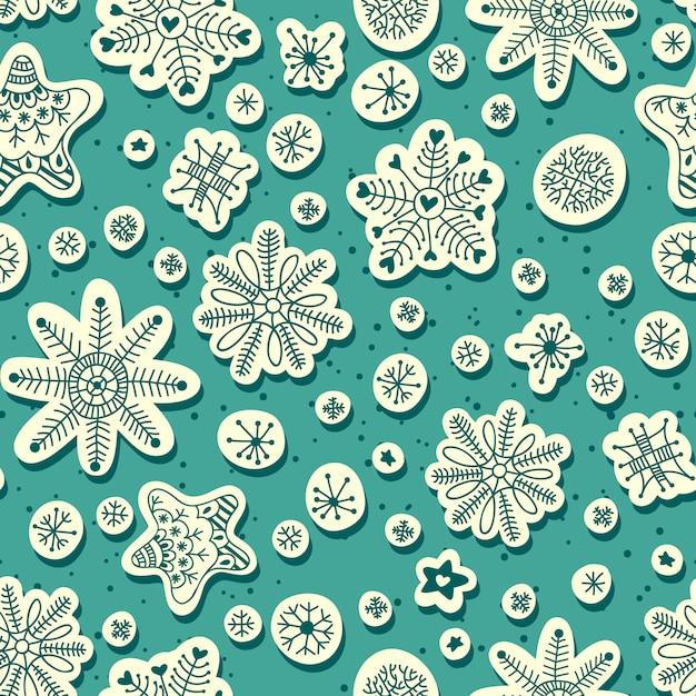 Sneeuwval naadloos patroon Premium Vector