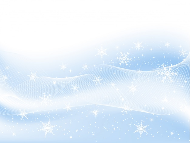Sneeuwvlokken en sterren Gratis Vector
