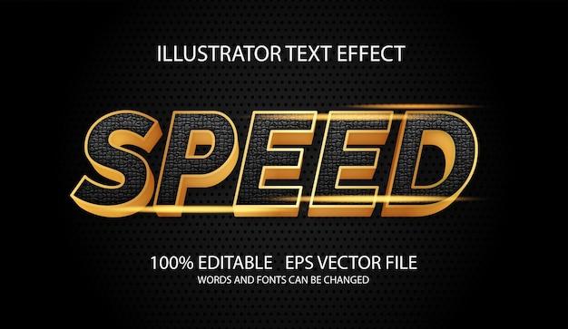 Snel glanzend goudstijl bewerkbaar teksteffect Premium Vector