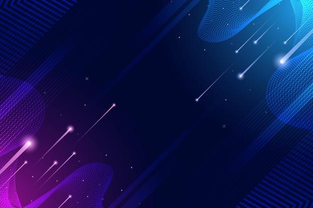 Snelheid licht en schijnwerpers digitale achtergrond Gratis Vector