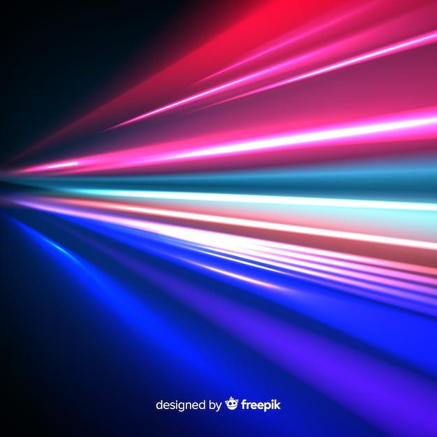 Snelheid licht trail achtergrond Gratis Vector