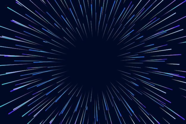 Snelheidslichten op donkere achtergrond Gratis Vector