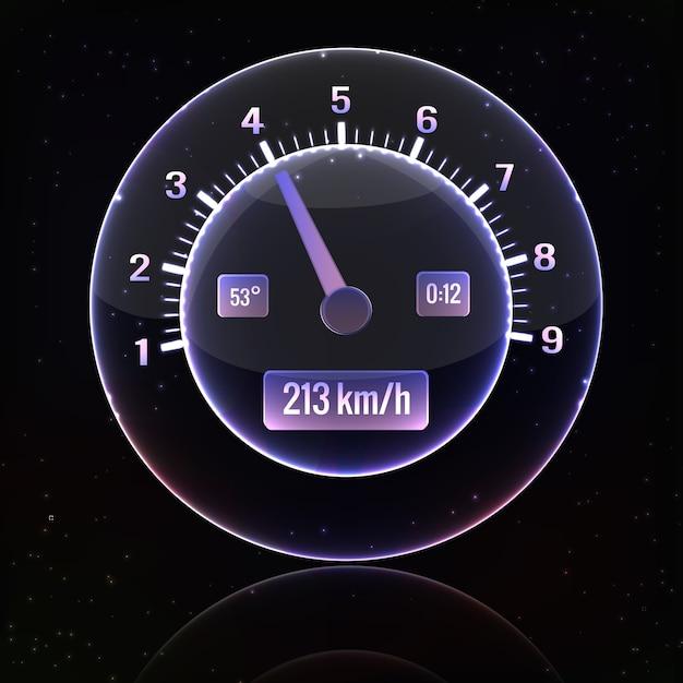 Snelheidsmeter interface Gratis Vector