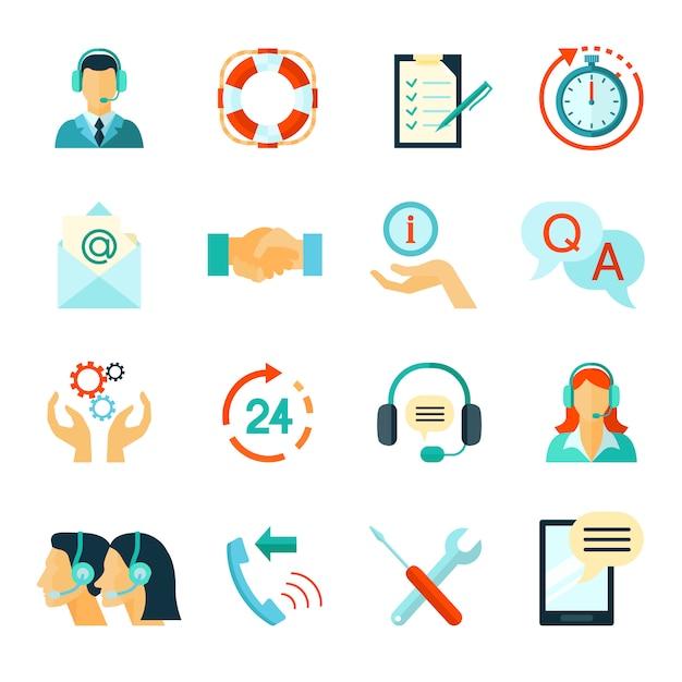 Snelle klantenondersteuning en technische assistentie i Gratis Vector