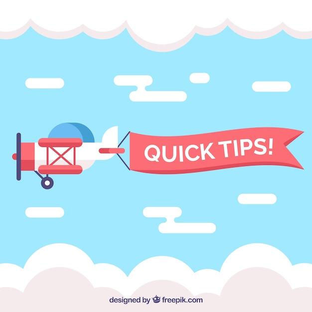 Snelle tips samenstelling met plat ontwerp Gratis Vector