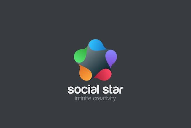 Sociaal logo pictogram. Gratis Vector