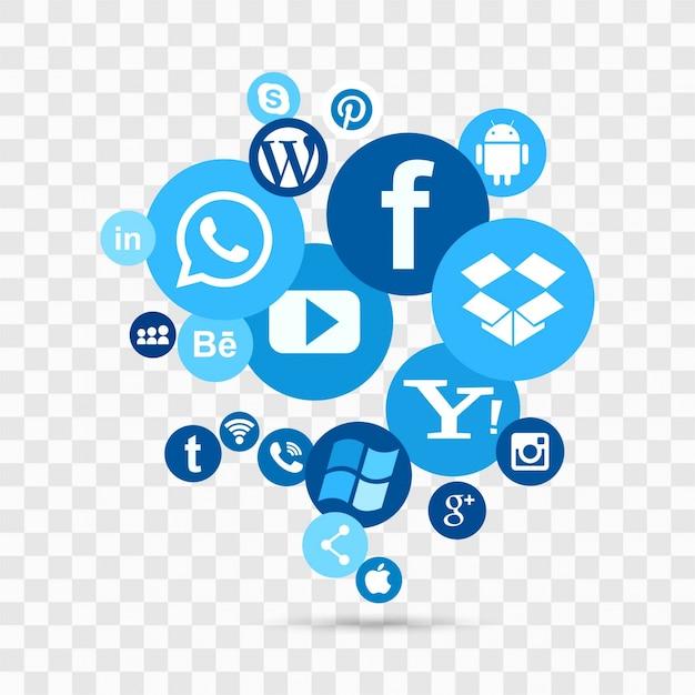 Social media achtergrond Gratis Vector