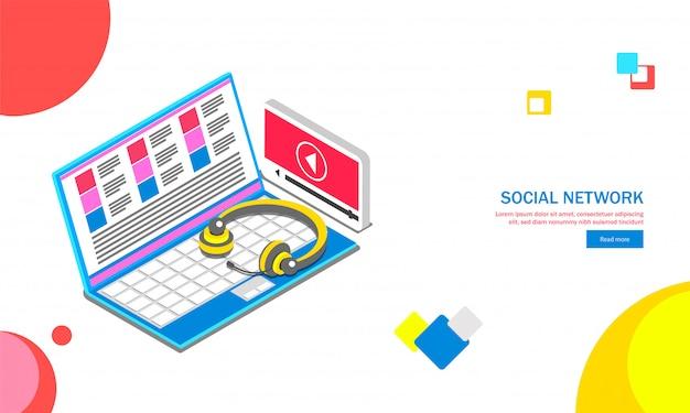 Social media achtergrond. Premium Vector