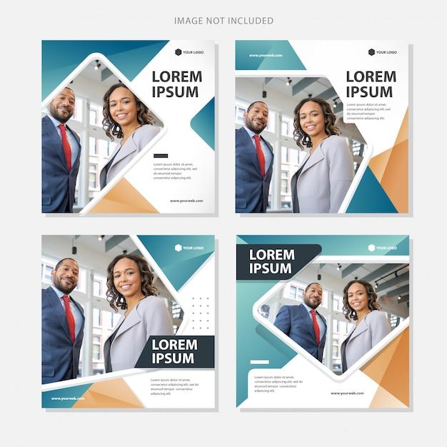 Social media banner business Premium Vector