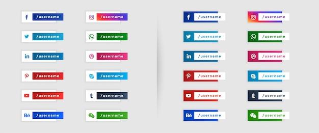 Social media-bannersjabloon in onderste derde stijl Gratis Vector