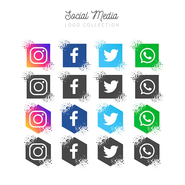 Social media-bannerverzameling Gratis Vector