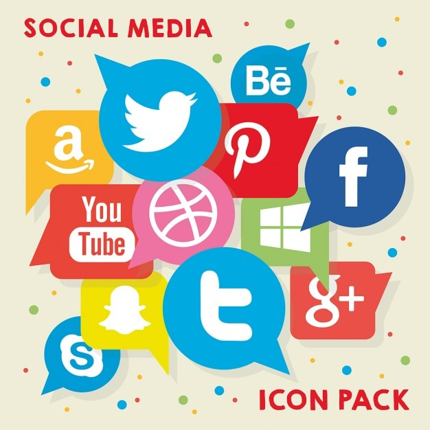 Social media icon pack Gratis Vector
