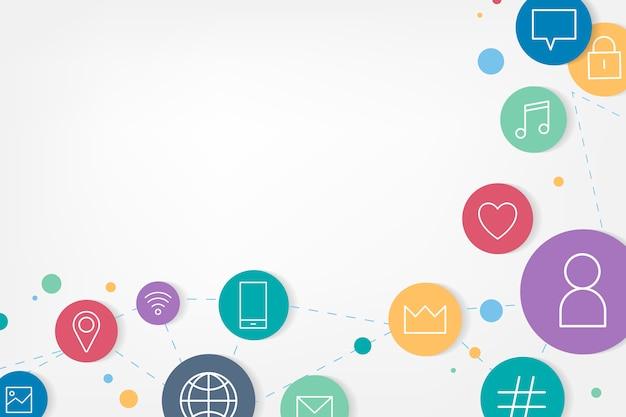 Social media iconen Gratis Vector