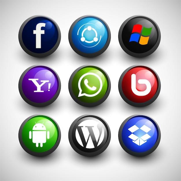 Social media icons et Gratis Vector