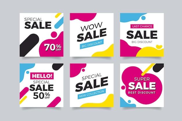 Social media instagram kleurrijke verkoop Gratis Vector