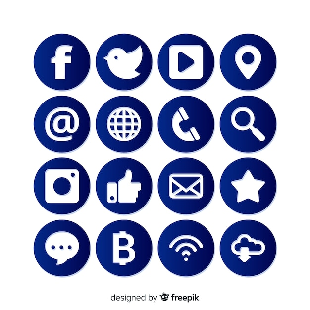 Social media logo collectie Premium Vector
