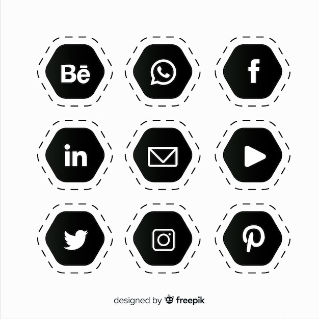 Social media logo collectie Gratis Vector