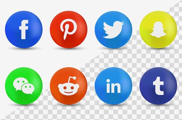 Social media logo-collectie Premium Vector