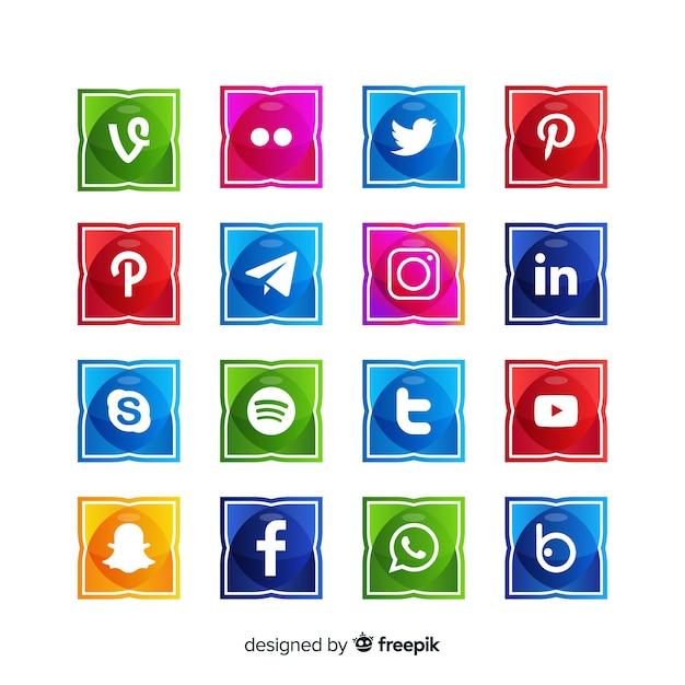 Social media logo collectio Gratis Vector