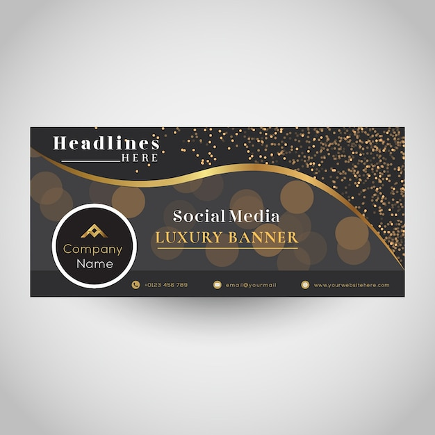Social media luxe bannerontwerp Premium Vector