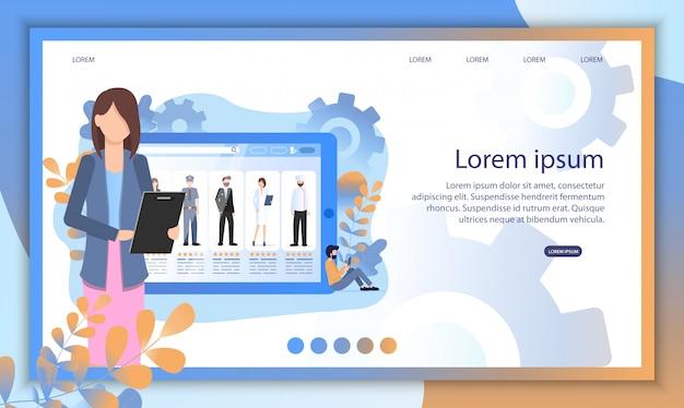 Social media person profile recruit zoek online Premium Vector