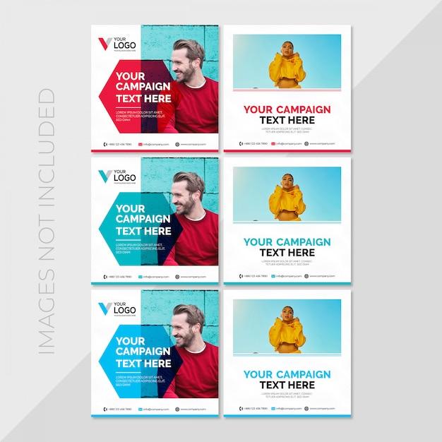 Social media post-sjabloon Premium Vector