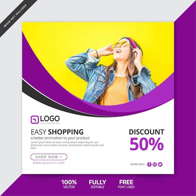 Social media postsjabloon Premium Vector