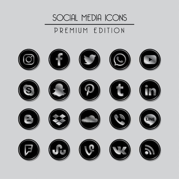 Social media premium-editie Premium Vector