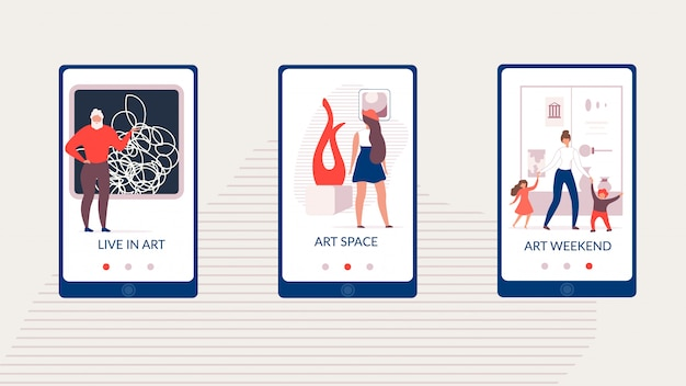 Social media template art space gallery pagina vector Premium Vector