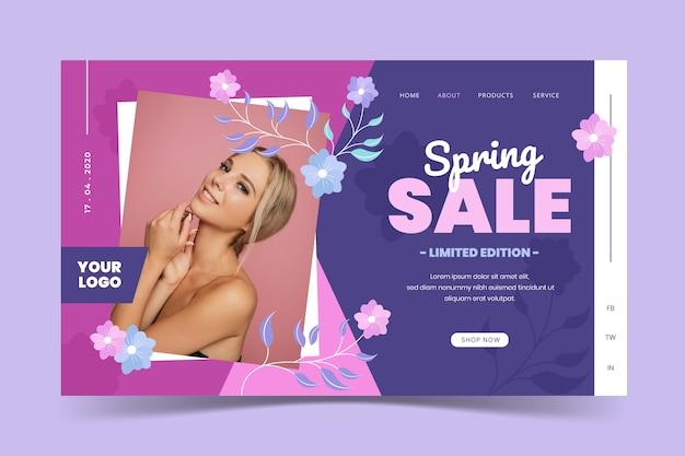 Social media voorjaar verkoop sjabloon Gratis Vector