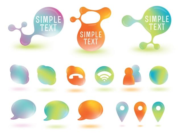 Social network media iconen Premium Vector