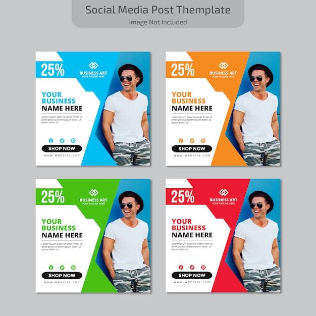 Sociale media plaatsen themplate Premium Vector