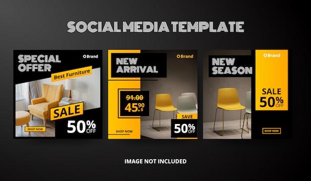 Sociale media post sjabloonverzameling Premium Vector