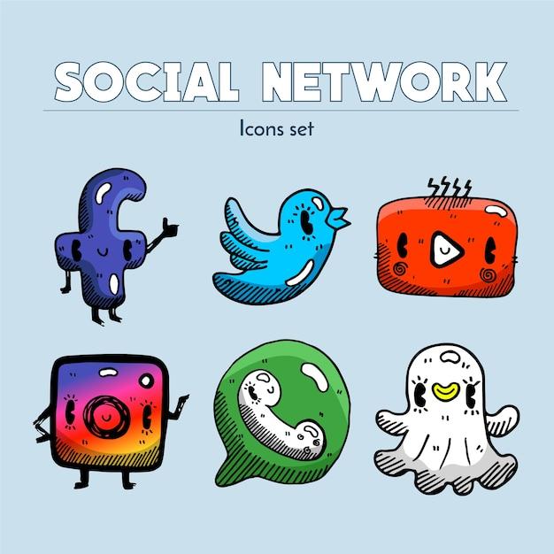 Sociale netwerken Premium Vector