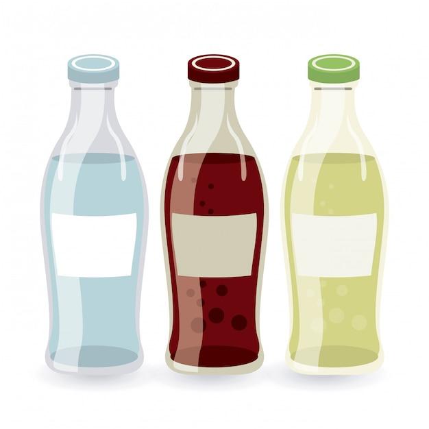 Soda eenvoudig element Gratis Vector