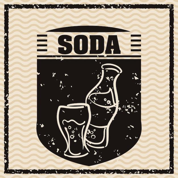 Soda-ontwerp Premium Vector