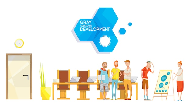 Softwareontwikkeling vergadersamenstelling Gratis Vector